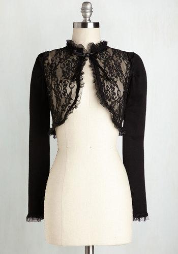 Impressive Ensemble Cardigan in Black $49.99 AT vintagedancer.com