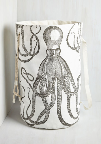 Float or Ink Laundry Bag - Multi, Nautical, Best, Cotton, Print with Animals, Dorm Decor