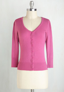 Charter School Cardigan in Magenta