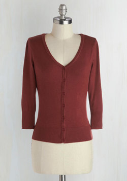 Charter School Cardigan in Rust
