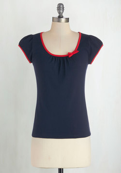 The Cutest Cruise Top in Navy