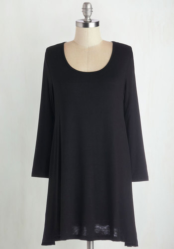 Relaxed Arrival Top - Jersey, Knit, Black, Solid, Casual, Minimal, Long Sleeve, Scoop, Better, Black, Long Sleeve, Best Seller, Fall, Good, 4th of July Sale, Top Rated, Long, Lounge