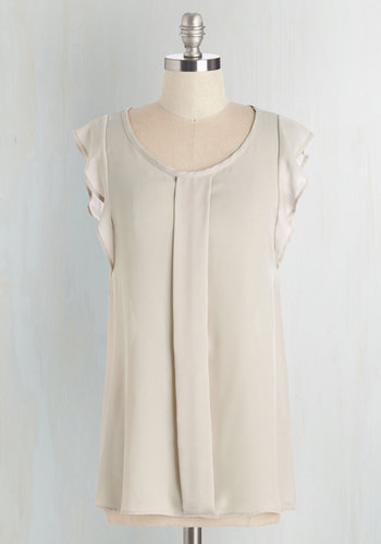 Always Approachable Top in Beige