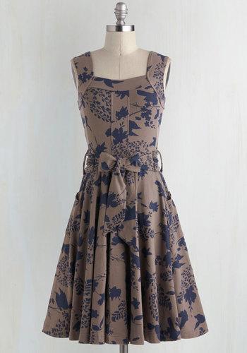 Guest of Honor Dress in Leaves $94.99 AT vintagedancer.com