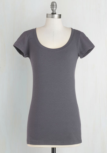 What's the Scoop Neck Tee in Charcoal