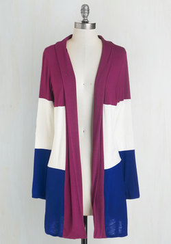 Patch My Drift? Cardigan in Berry