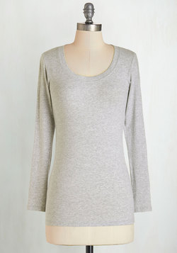 Simply Ink Top in Grey