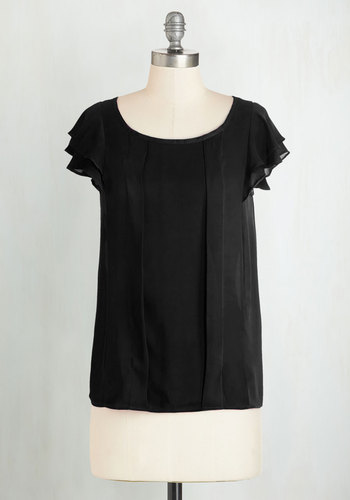 Time of Your Lively Top in Black