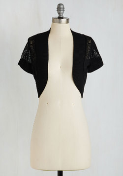 Delight in Deco Cardigan in Ebony