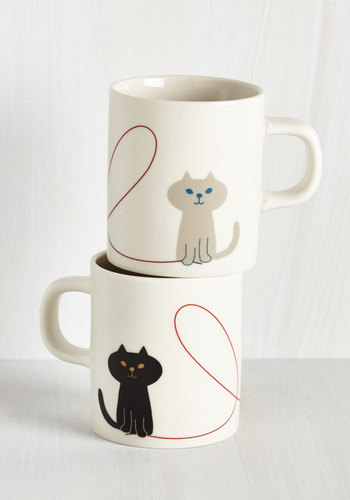 Thoughtful Pals Mug Set - Multi, Cats, Good, Critters, Wedding, Valentine's, Top Rated