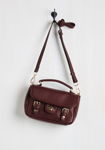 Take a Sweet Bag - Red, Solid, Buckles, Boho, Travel, Faux Leather, Party