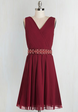 Glitz and Grandeur Dress in Ruby