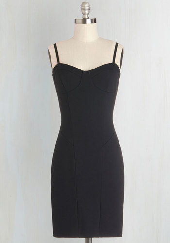 Nothing But the Best Dress - Knit, Black, Solid, Party, Girls Night Out, Minimal, Bodycon / Bandage, Spaghetti Straps, Sweetheart, LBD, Short, 90s, Mini, Top Rated