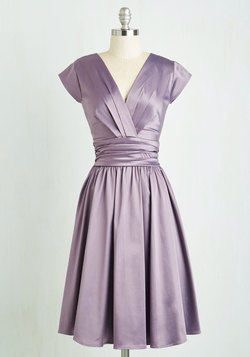 Love You Ivory Day Dress in Amethyst