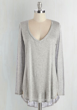 Casual You Need Top in Grey