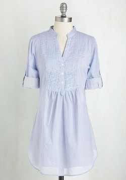 Back Road Ramble Tunic in Blue Stripes