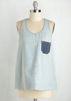 Chambray Sippin' Top