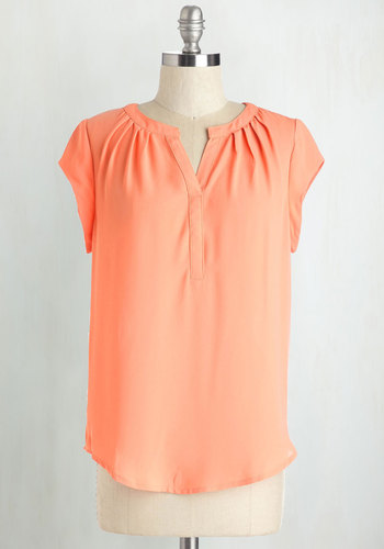 Most Lightly to Succeed Top in Peach