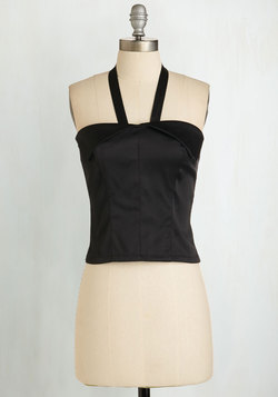 Halter! Who Goes There? Top in Onyx