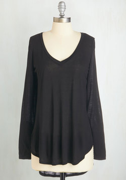 Casual You Need Top in Black