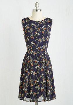 A Lady's Best Frond Dress in Viney Flowers