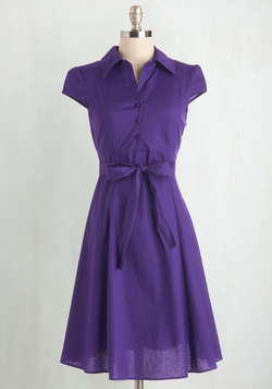 Soda Fountain Dress in Grape