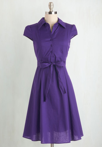 Soda Fountain Dress in Grape $54.99 AT vintagedancer.com
