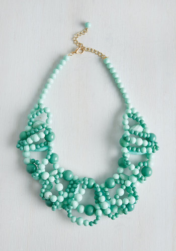 All I Wanna Dewdrop Necklace - Blue, Ombre, Beads, Party, Casual, Boho, Festival, Spring, Summer, Statement, Pastel