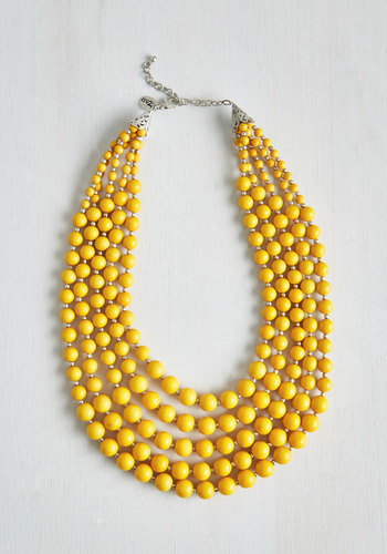 You Bijou Necklace in Saffron - Yellow, Solid, Beads, Boho, Statement, Urban, Darling, Variation