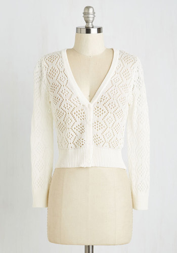 Cream of the Cropped Cardigan