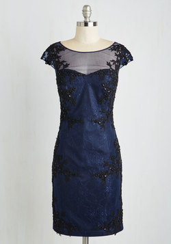 Perfectly Pristine Dress in Navy