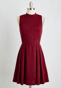 Seeking Regal Advice Dress in Textured Burgundy