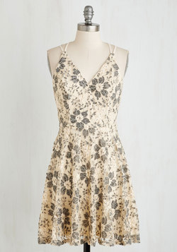 Early Antiquing Dress in Cream