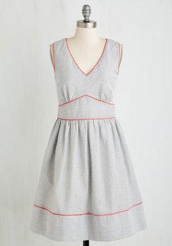In Ticker Tape Shape Dress