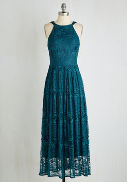 With Style and Lace Dress in Teal