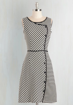Chord-ially Yours Dress in Stripes