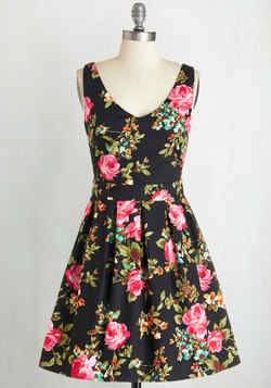 Bookmaking Brunch Dress in Black