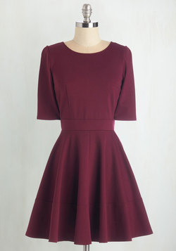 Dote Worry About It Dress in Wine