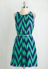 Great Wavelengths Dress in Jade