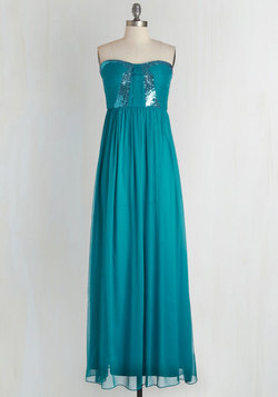 Stop! Glamour Time Dress in Aqua