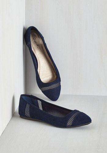 Prance as You Please Flat in Navy