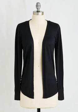 Simple Sweetness Cardigan in Licorice