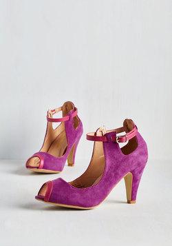 Follow-up Fete Heel in Fuchsia