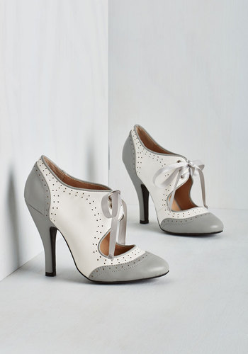 Poised for Perfection Heel in Pebble $79.99 AT vintagedancer.com