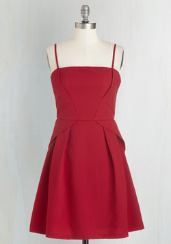 Start with Sophistication Dress in Ruby