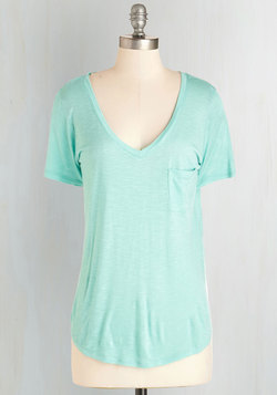 Begin with Brightness Tee in Aqua
