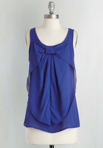 Hello, Bow! Top in Cobalt
