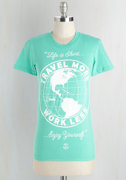 Time to Prioritize Tee in Mint