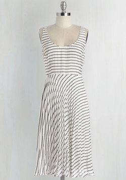 Pleat, Wink, and Be Merry Dress