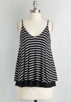 Let's Tier it for the Poise Top in Black Stripes